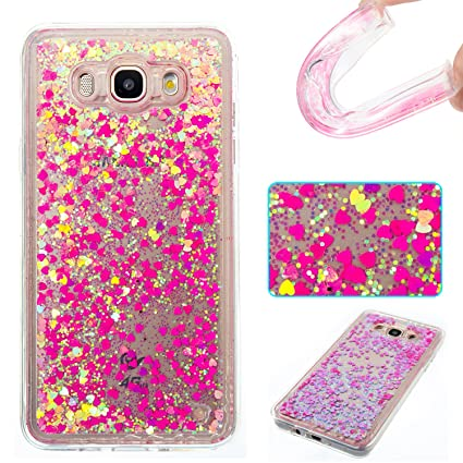 watch c72e4 ecda7 Amazon.com: Galaxy J7 2016 Case, Ranyi [Glitter Liquid Case ...
