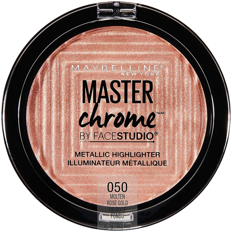 MAYBELLINE FaceStudio Master Chrome Metallic Highlighter - Molten Rose Gold L' Oréal USA Inc.