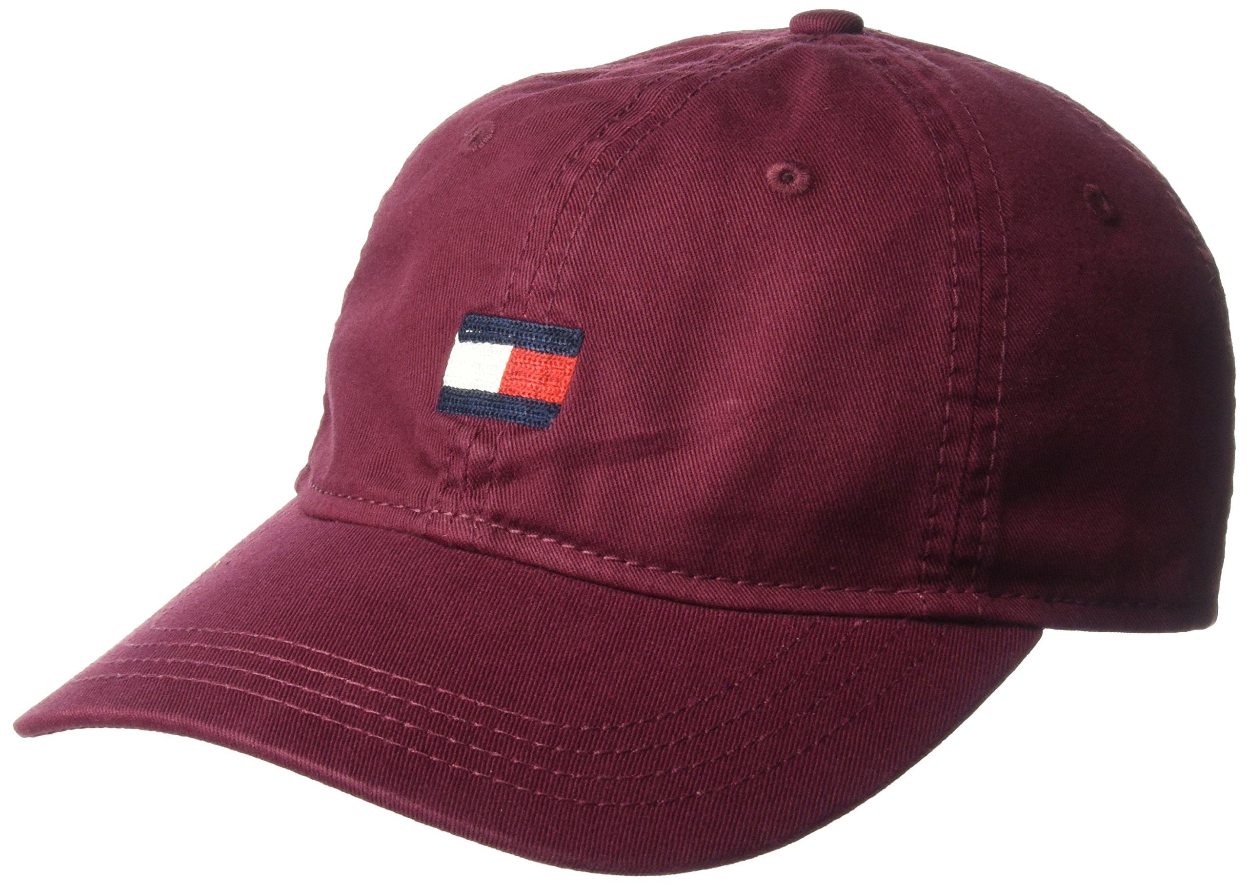 Tommy Hilfiger Men's Ardin Dad Hat, Zinfandel, One Size