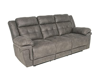 Amazon.com: Steve Silver Anastasia Fabric Reclining Sofa in ...