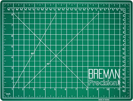 2-Sided 5-Ply PVC Craft Mat with Grid Lines Black//Green Sides Breman Precision Self Healing Cutting Mat A1,24x36in Sewing Craft Quilting Fabric Rotary Cutting Mat for Crafters Hobbyists Artists