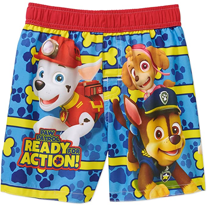 2755cc0b25 Paw Toddler Boys Swim Trunks UPF 50+ Fabric Swimming Trunk Size 4T:  Amazon.in: Clothing & Accessories