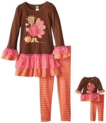 Dollie Me Girl 4-14 and Doll Matching Christmas Tutu Pajama Outfit American  Girl ec4e40002