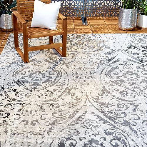 Home Dynamix Nicole Miller Patio Sofia Juniper Indoor/Outdoor Area Rug 5'3″x7'2″
