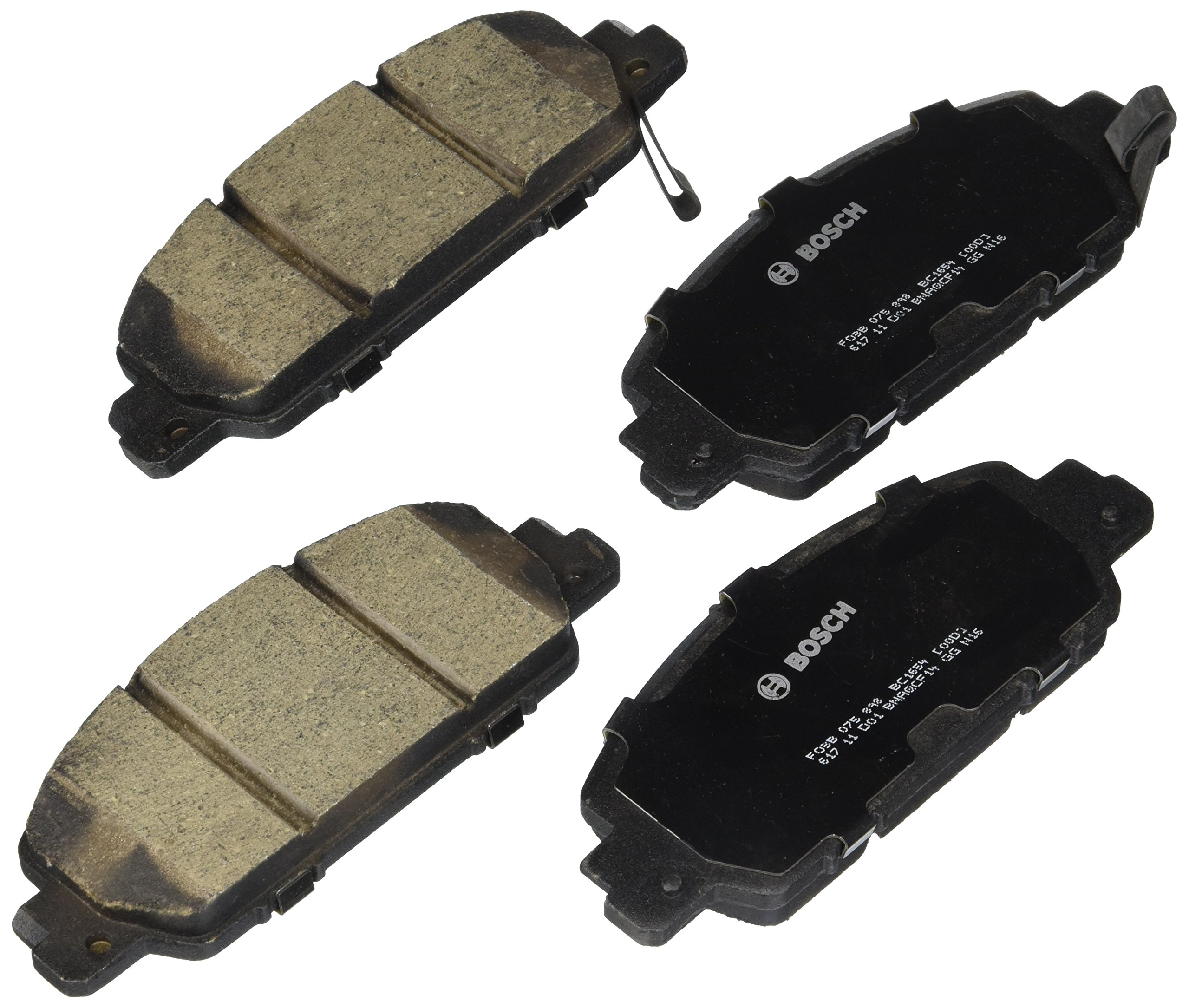 Bosch BC1654 QuietCast Premium Ceramic Front Disc Brake Pad Set by Bosch