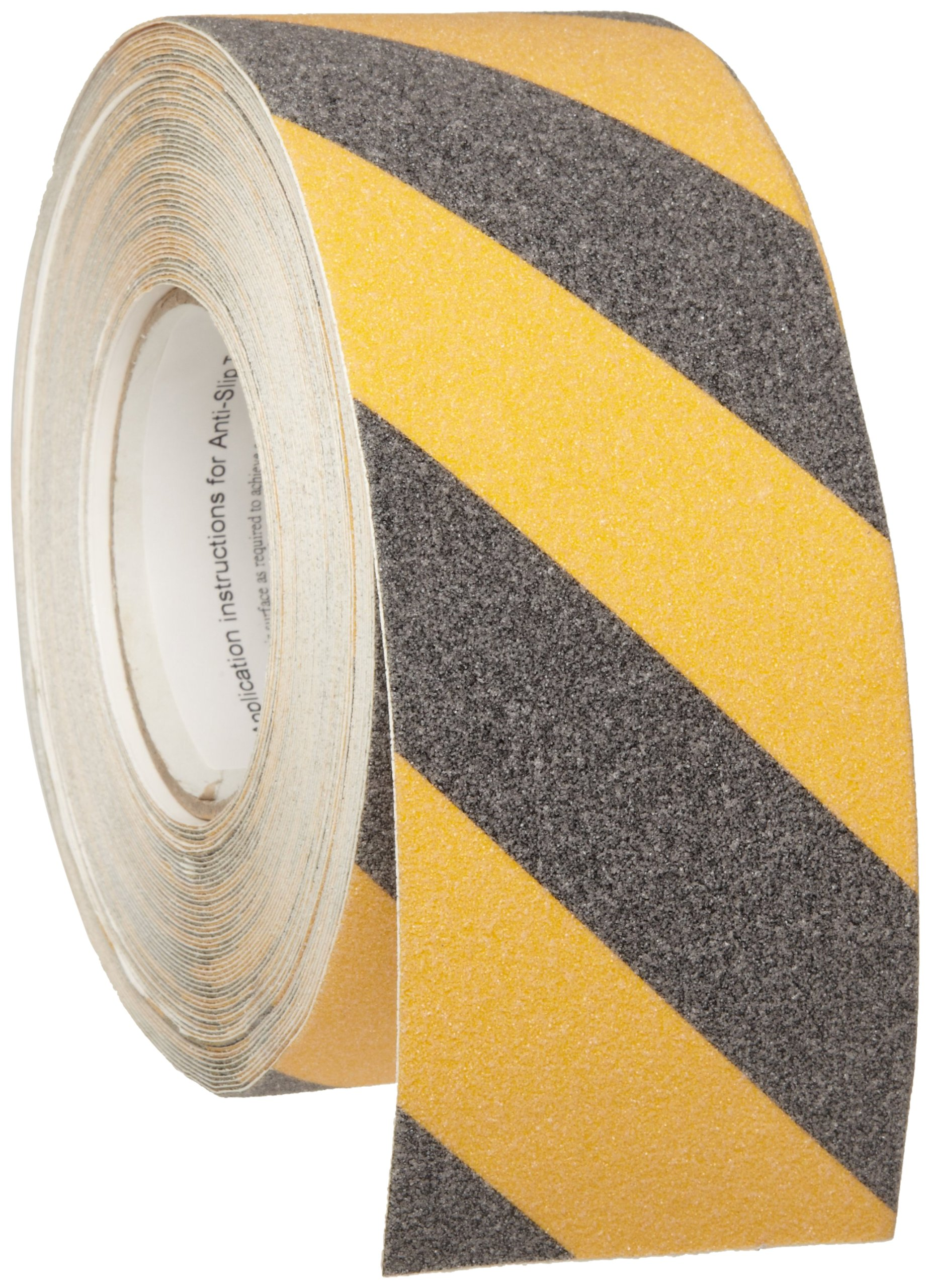 Brady 60' Length, 3'' Width, B-916 Grit-Coated Polyester Tape, Striped Special Black And Yellow Color Anti-Skid Tape