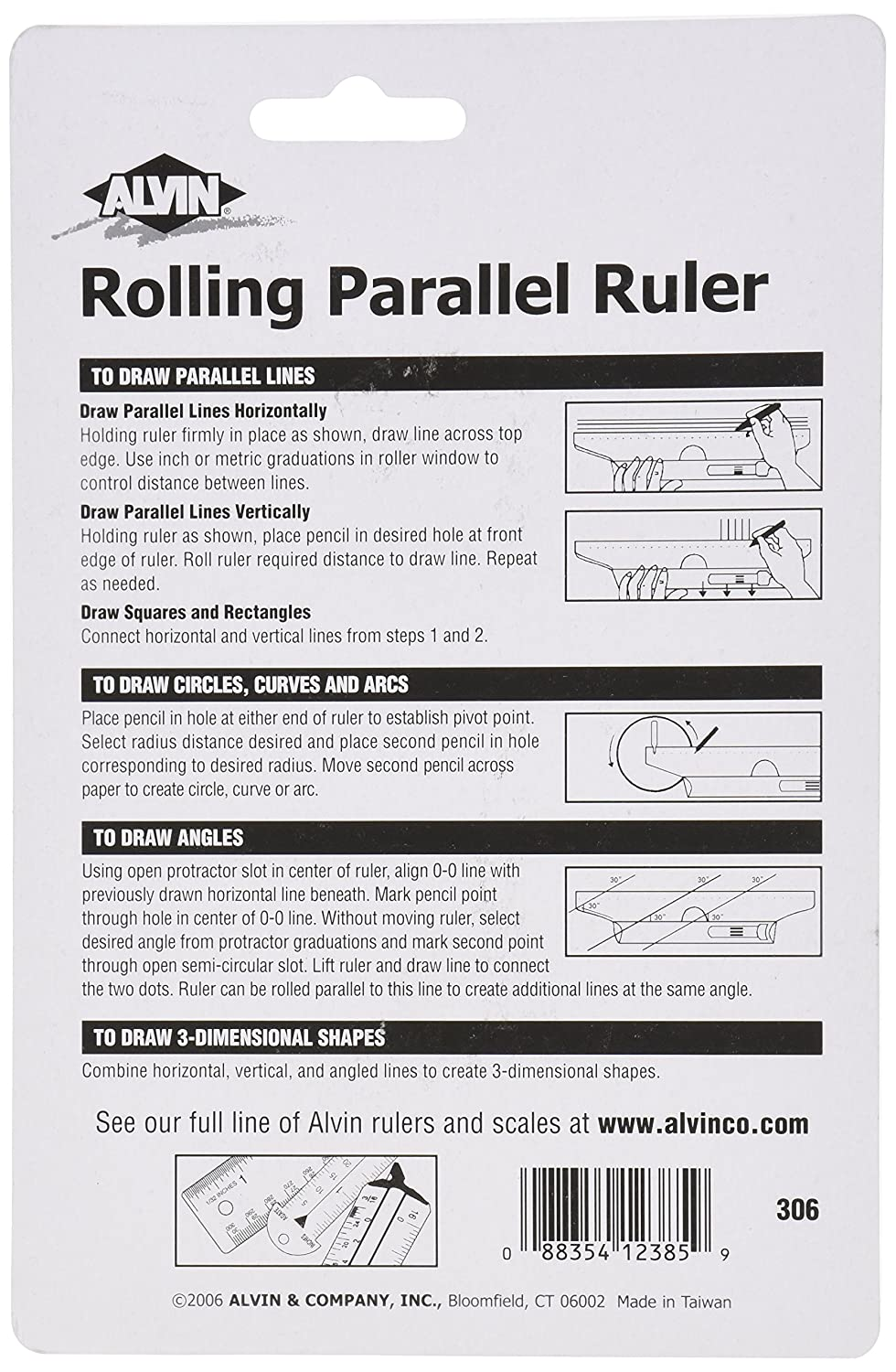 Amazon Alvin 312 Rolling Parallel Ruler 12 Inch Rule Office Products