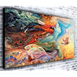 Canvas35 Dreamer Panoramic Wall Framed Xxl 55 inch x 24 inch Over 4.5 Wide x 2 Ft High Ready to Hang Print-Landscape Photograph-Modern Art, Canvas, Multi-Colour,