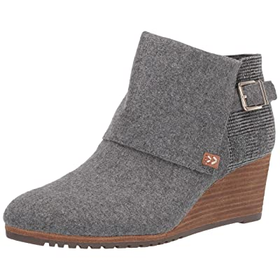 Dr. Scholl's Womens Create Mid Grey Flannel Booties 11 M | Ankle & Bootie