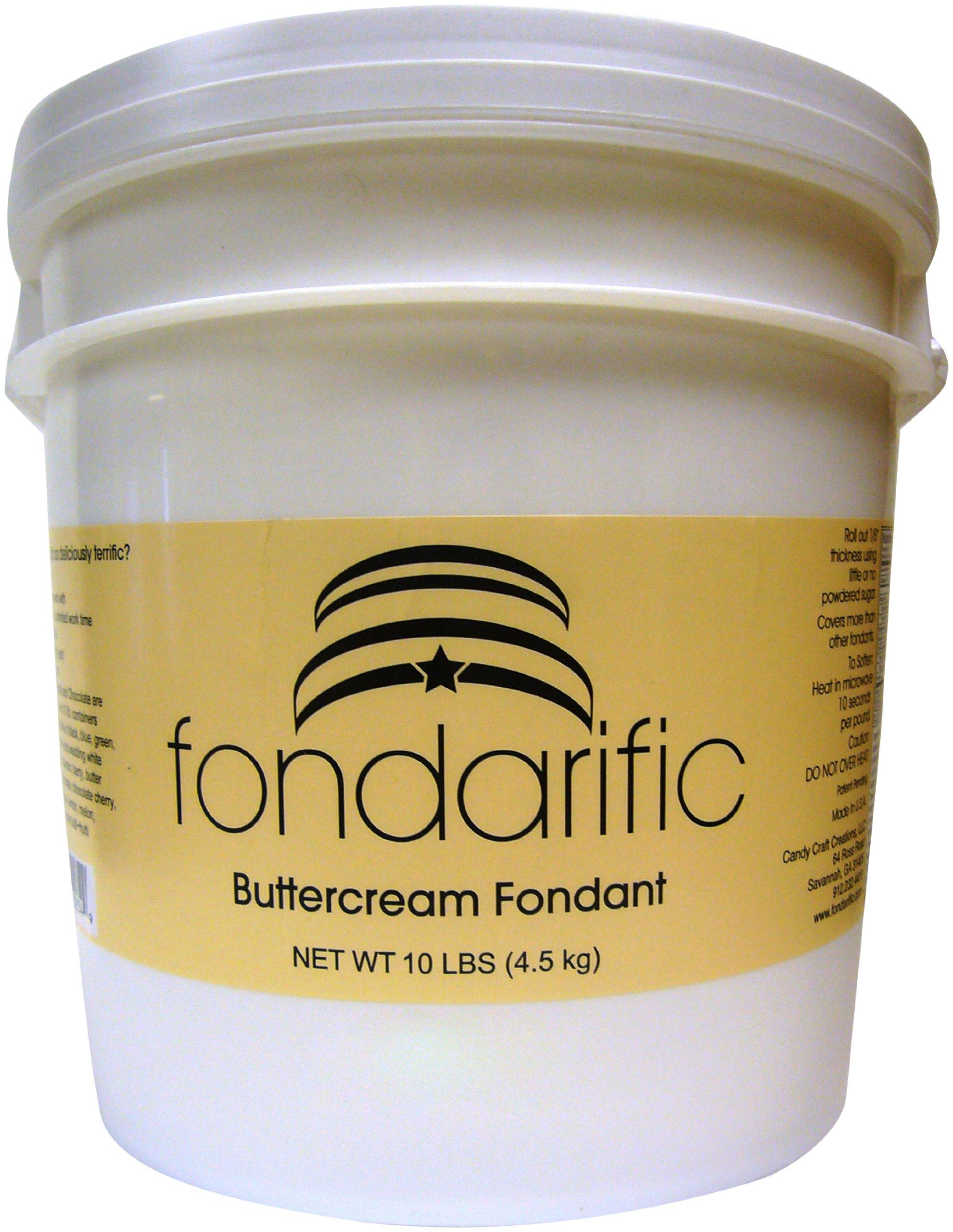 Fondarific Buttercream Red Fondant, 10-Pound Bucket by Fondarific (Image #1)