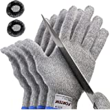FORTEM Cut Resistant Gloves, 2 Pairs (4 Gloves), Level 5 Protection, Food Grade, EN388 Certified (Small)