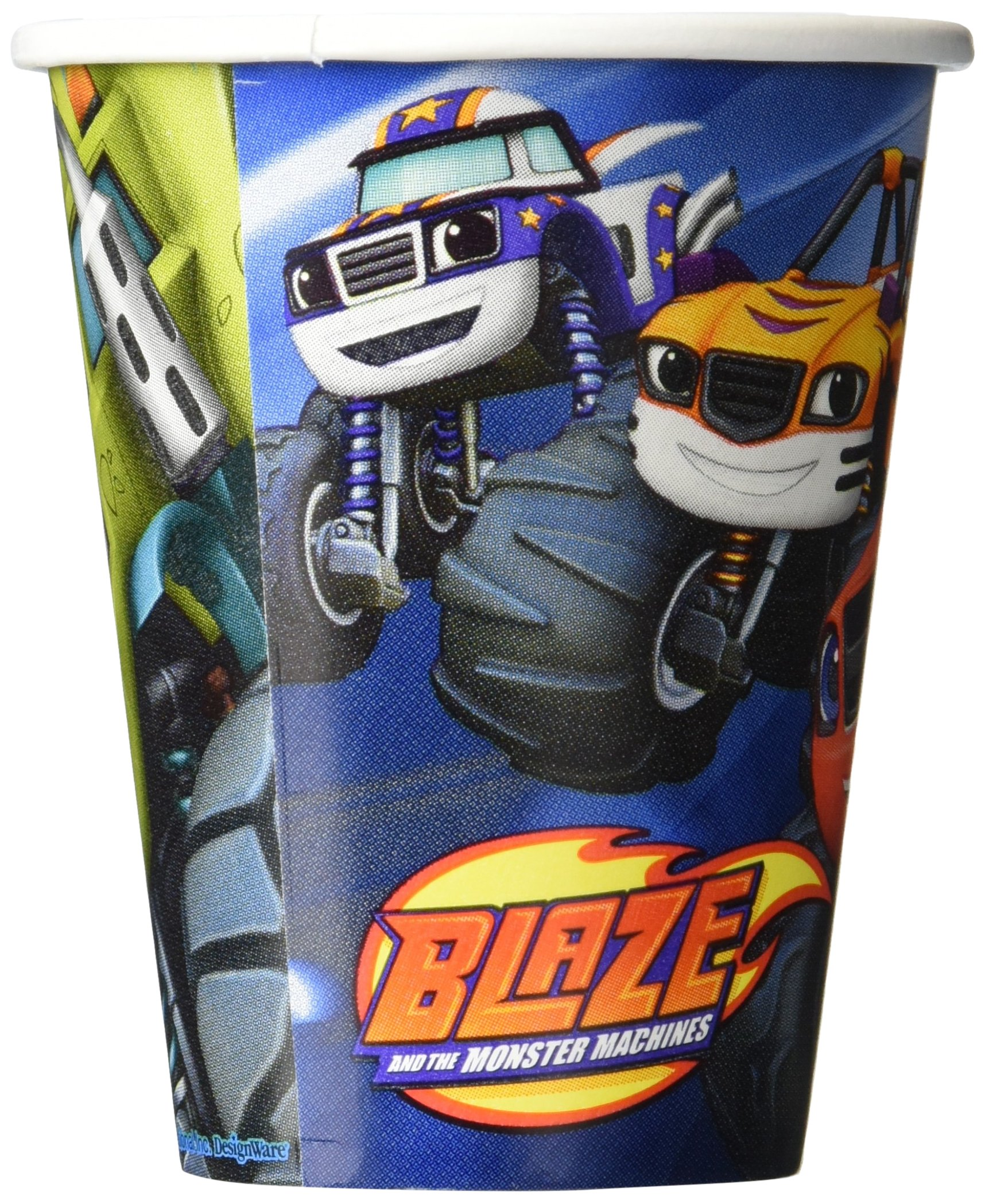 amscan 581582 Blaze and The Monster Machines Paper Cups 266ml-8 pcs