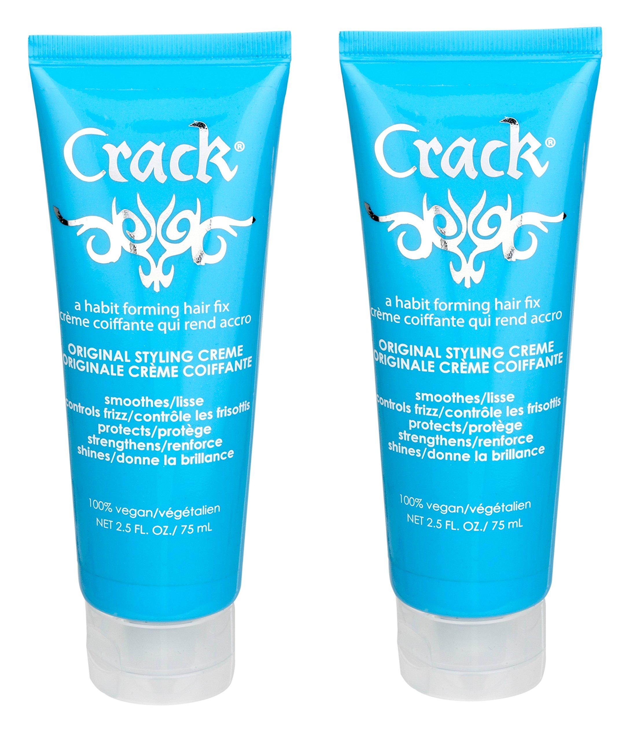 Crack Original Styling Creme 2.5 fl oz (Pack of 2) by Crack