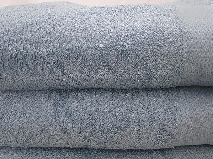 Westlane Toalla de baño de algodón Egipcio de Lujo, 70 x 130 cm, Supersuave, 2 Toallas de baño de Zigzag, 450 g/m²: Amazon.es: Hogar