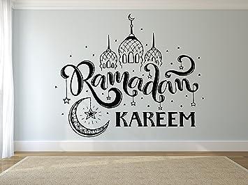 Islamic Calligraphy-Removable-Wall-Stickers VINYL WALL DECAL Ramadan Eid Mubarak