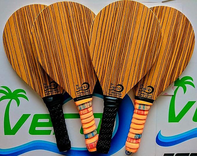 2 Frescobol Paddles,1 Official Ball, Beach Bag, Made in USA