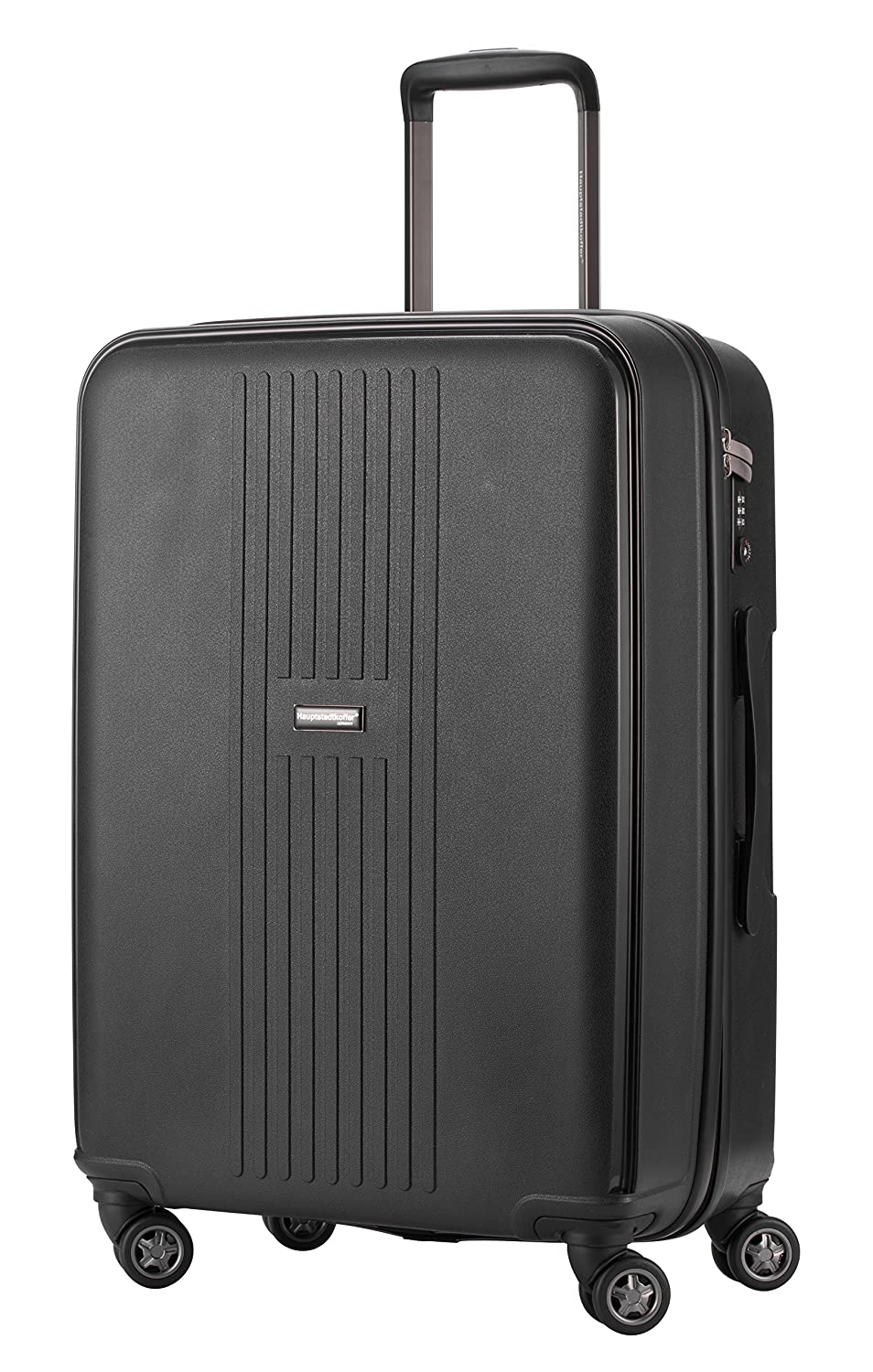 1132d2e7ba22 HAUPTSTADTKOFFER - F-Hain - Luggage Suitcase Hardside Spinner Trolley  Expandable 24¡° TSA, Black