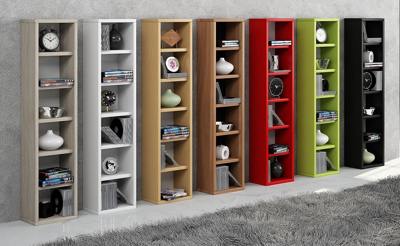 91.5x21x20 cm VCM archiving system Elementa Wood Red