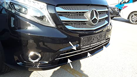 Mercedes Vito W447 a partir de 2014 nuevo (DIS) cromo frontal con moldura Acero