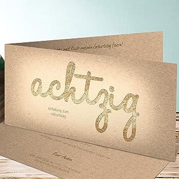 Einladungskarten Zum 80 Geburtstag Selber Machen Goldener Tag 80 15