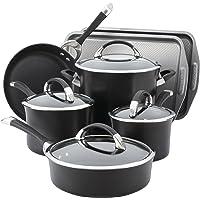 Circulon 82983 Symmetry Hard Anodized Nonstick 9-Piece Cookware Set plus 2-Piece Bakeware Set, Black