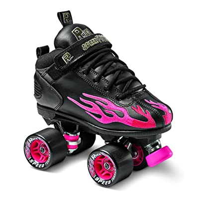 Sure-Grip Rock Flame Ruby Rollerskates : Sports & Outdoors