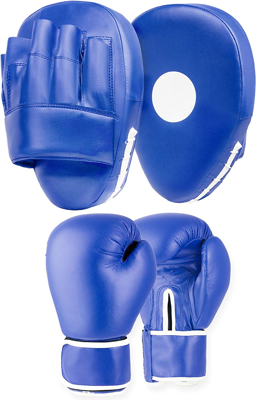 Lions Amateur Fitness Boxing Set Hook /& Jab Pads Focus Punch Bag Gloves Target Strike Mitts