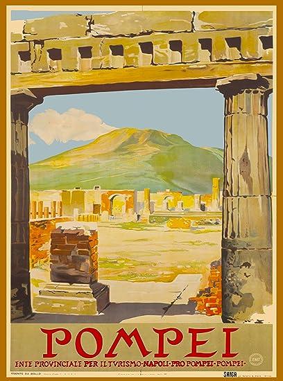 Amazon com: A SLICE IN TIME Pompei Campania Region Mt  Vesuvius