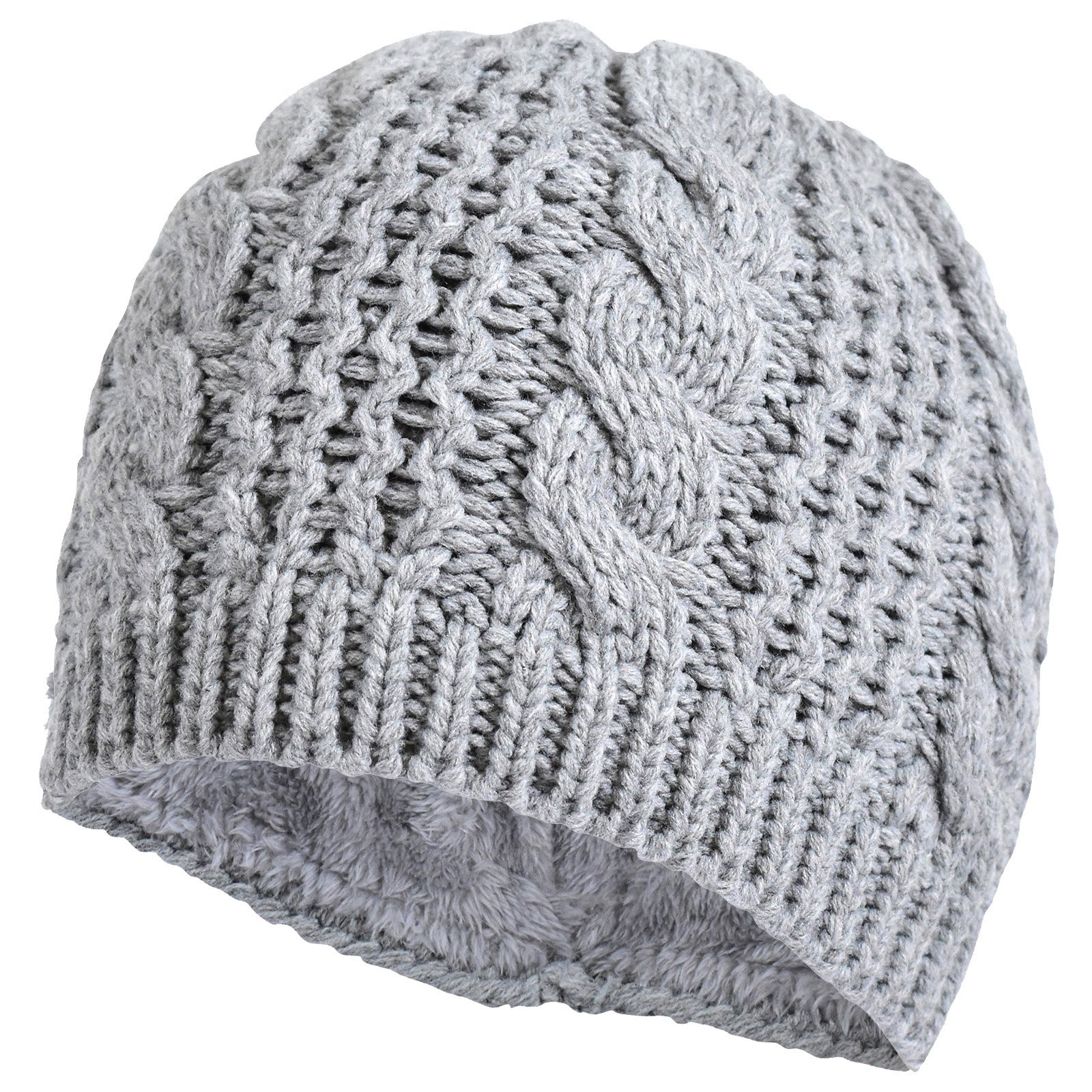 TrailHeads Women's Cable Knit Ponytail Beanie - storm grey by TrailHeads (Image #9)