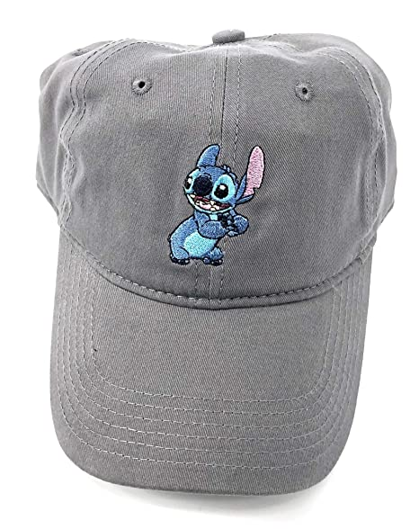 wholesale dealer 886f6 be1b0 Image Unavailable. Image not available for. Color  Disney Adult Lilo Stitch  Grey Baseball Cap Hat