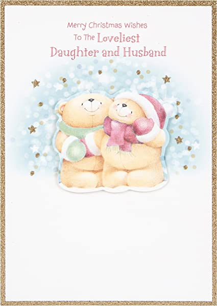 Hallmark Forever Friends Christmas Card To Daughter Husband With Lots Of Love Medium Amazon Co Uk Office Products