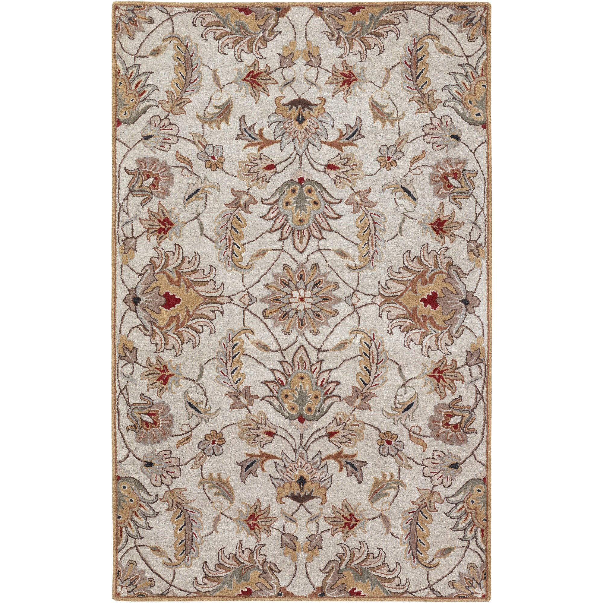 Surya Caesar CAE-1029 Classic Hand Tufted 100% Wool Feather Gray 2'6'' x 8' Traditional Runner