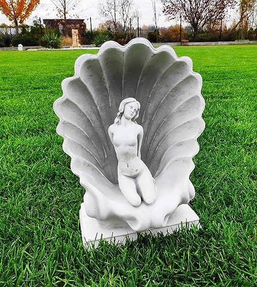 Hermosa Estatua de jardín - Afrodita incrustada en una Concha: Amazon.es: Jardín