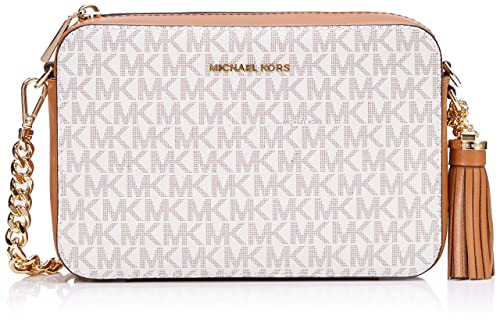 Michael Kors MICHAEL by Ginny Vanilla Logo Medium Camera Bag