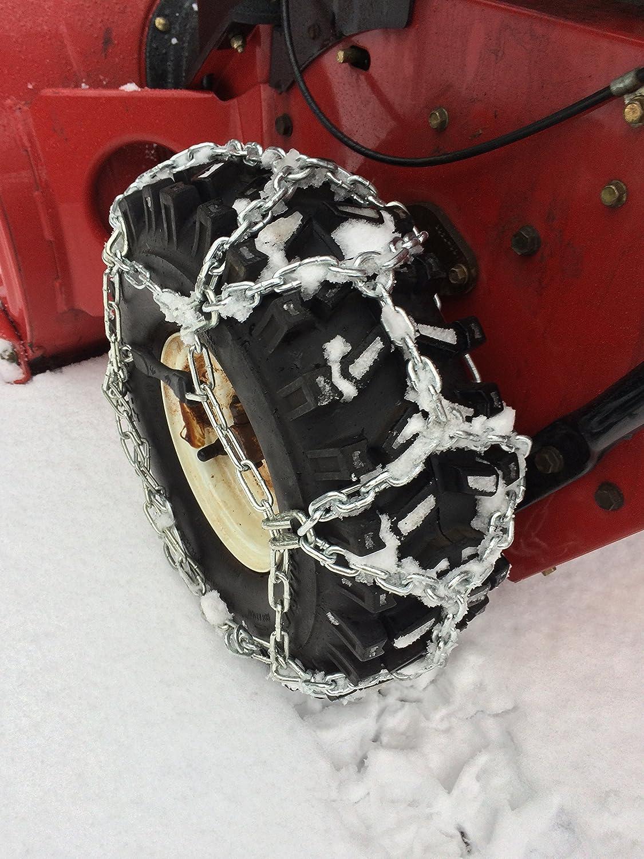TireChain.com 15x5-6, 15x5.00x6, 15 X 5.00 X 6 European Diamond Style Tire Chains