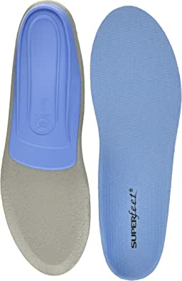 Superfeet BLUE Insoles, Professional-Grade Orthotic Shoe Inserts for Medium Thickness and Arch, Unisex, Blue