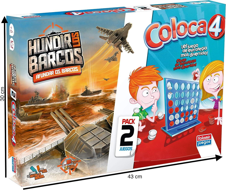 Falomir Coloca 4 + Hundir Barcos (Pack de Juegos de Mesa), multicolor (646389) , color/modelo surtido: Amazon.es: Juguetes y juegos