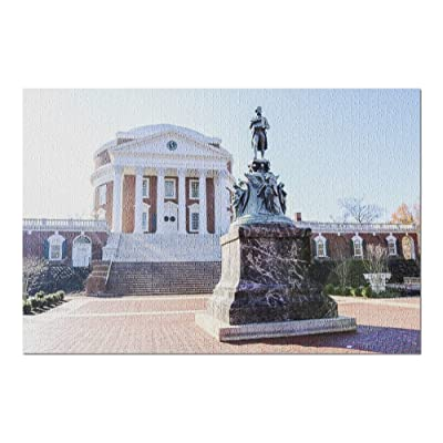 The Rotunda at The University of Virginia 9005591 (Premium 1000 Piece Jigsaw Puzzle for Adults, 20x30, Made in USA!): Toys & Games