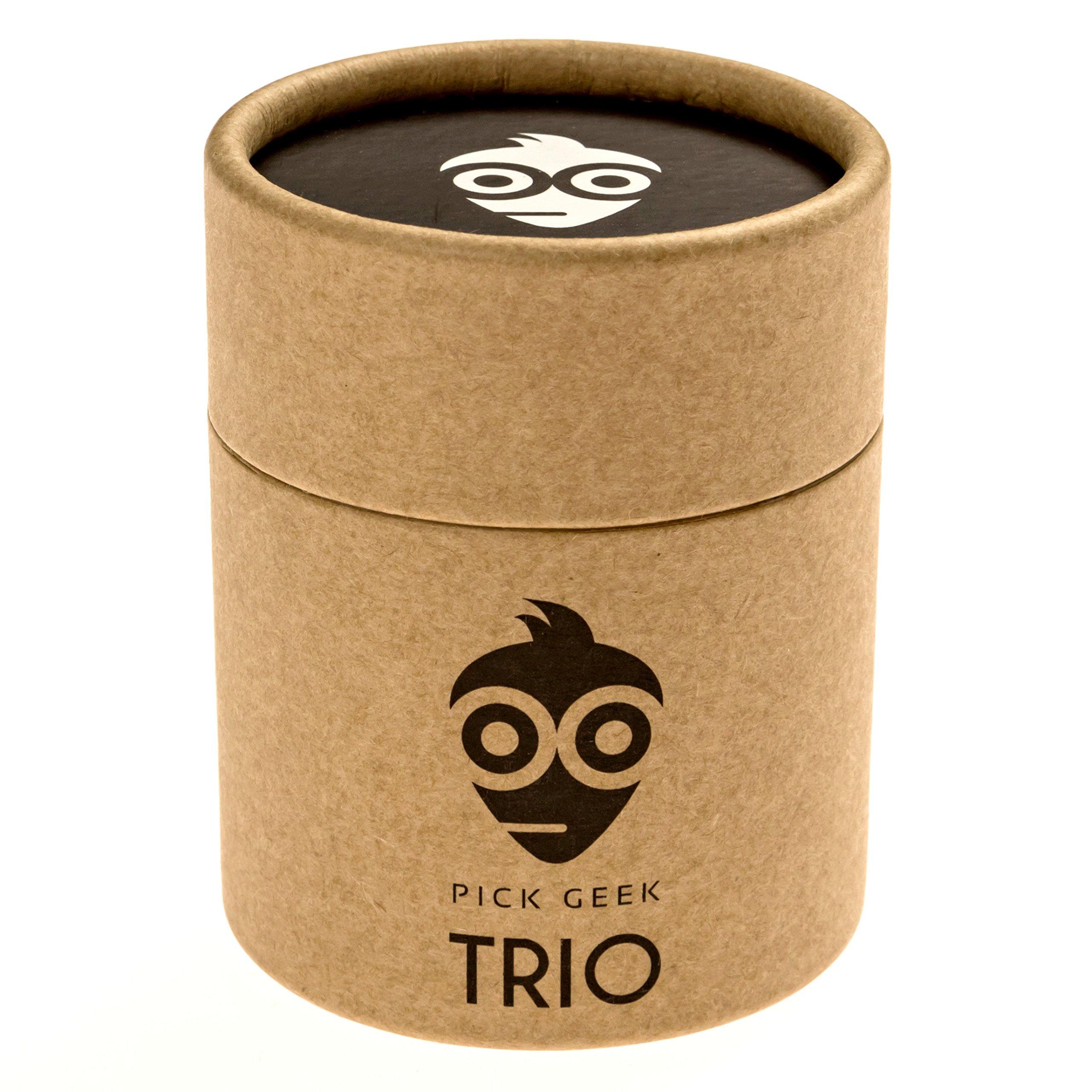 Pick Geek TRIO - Púas de Guitarra - 3 Diferentes Juegos de Diseños Frescos para su