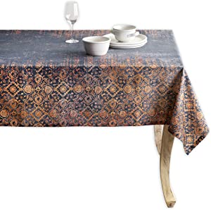 100% Cotton Rectangle Tablecloth 60 Inch by 120 Inch for Kitchen   Home   Dining Room   Tabletop   Decorative   Parties   Weddings   Outdoor   Thanksgiving/Christmas Collection-(Imperfection)