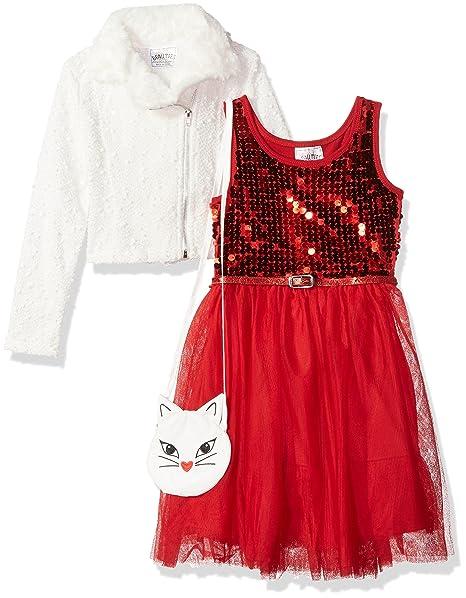 Amazon.com: Beautees Little Girls Moto chamarra con vestido ...