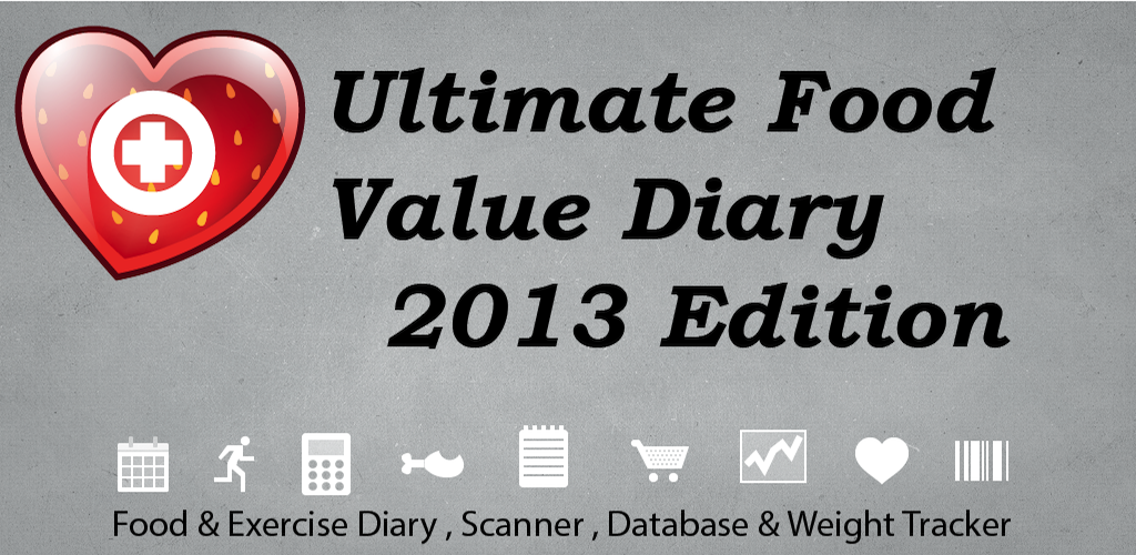 Ultimate Food Value Diary Plus - Calculator, Scanner, Database, Weight Tracker with Target & Milestone Watchers Mobile Tracking App