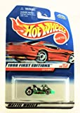 Hot Wheels - 1998 First Editions - Go Kart - Neon Green - #21 of 40 Cars - Collector #651