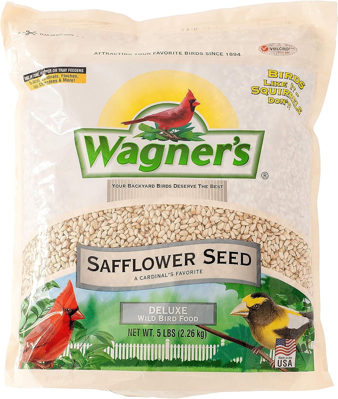Wagner's 57075 Safflower Seed Wild Bird Food, 5-Pound Bag : Wild Bird Birdseed : Garden & Outdoor