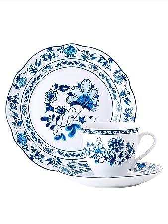 Porzellan Kaffee Service Tee Tasse Kaffeetasse Kahla Zwiebelmuster Dekor