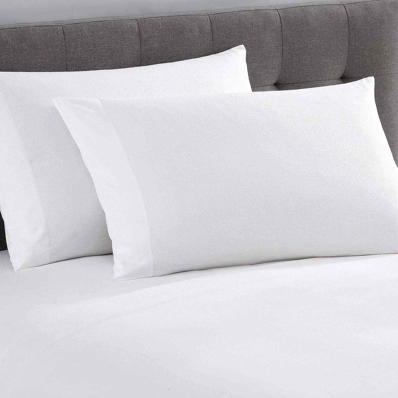 UGG Gracen 100% Cotton Luxury Flannel Fabric Sheet Set, (Snow, King)