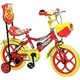 "NY Bikes Aqua 14"" Kids Bicycle 3-5 years (Red & Yellow) Kids Bike"
