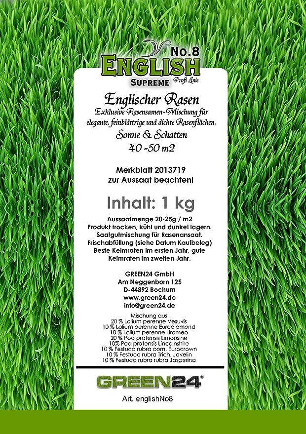English No.8 SUPREME eleganter Englischer Rasen für Schatten & Sonne ...
