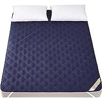 ベッドパッド・敷きパッド 綿100% 丸洗いOK 防ダニ 抗菌防臭 加工 オールシーズン使えます 敷きふとんカバー 吸汗 速乾 ズレ防止ゴムバンド付き マットレスパッド