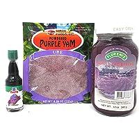 Florence Purple Yam Ube Bundle Pack (Florence Purple Yam Spread, Giron Foods Powdered Ube, McCormick Ube Flavoring Bundle)